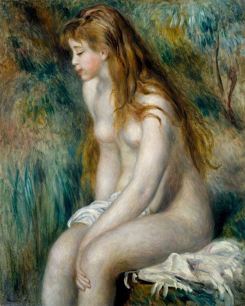 Junge Mädchen Baden, Auguste Renoir von Meesterlijcke Meesters