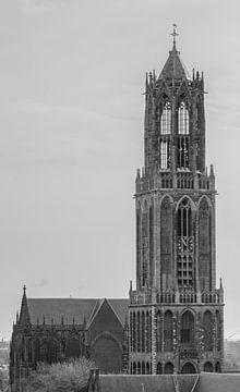 """""""Dom"""" van Utrecht (Zwart-wit) van Kaj Hendriks"""