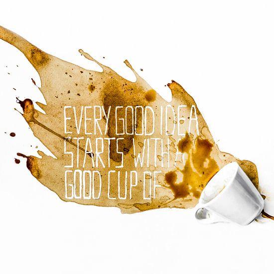 Every good idea starts with a good cup of coffee - Koffiekunst van Ricardo Bouman | Fotografie