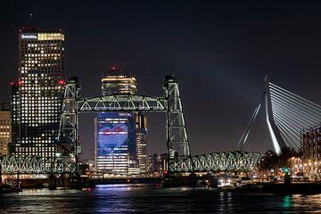Rotterdam Skyline De Hef en Eurovisie Songfestivallogo