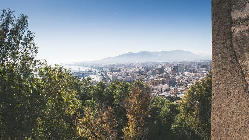 Málaga vanaf Gibralfaro van Rob van Dongen