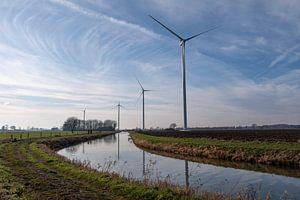 Windmolens op een rij