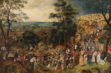 Kruisdraging, Pieter Brueghel de Jonge van Meesterlijcke Meesters