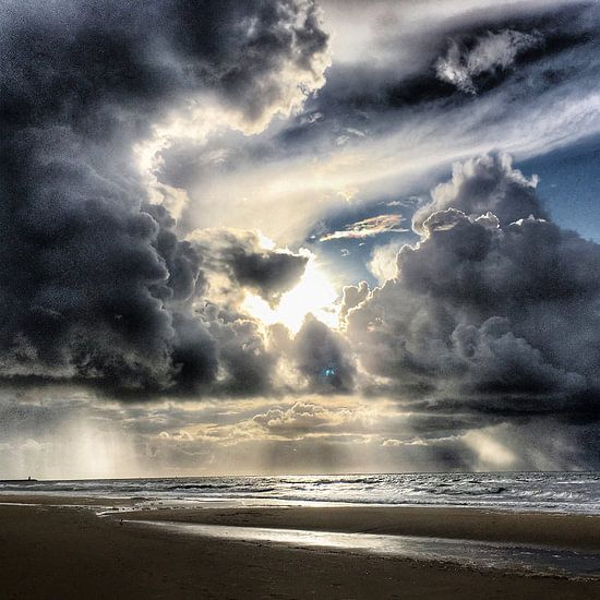 Zonsondergang bij Scheveningen