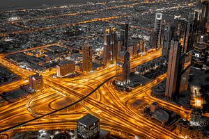 Dubai aderen van de stad. van