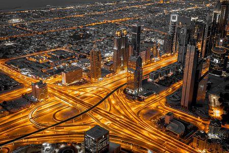Dubai aderen van de stad.