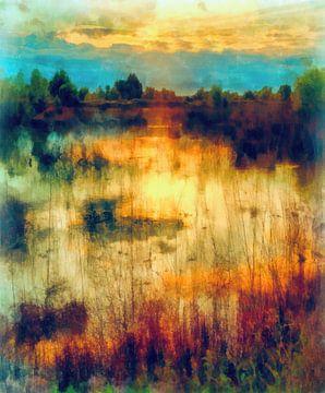 Reflecties op het meer van Angel Estevez