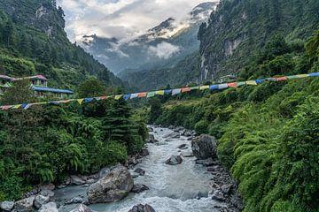 Fluss in der nepalesischen Annapurna-Region von Tessa Louwerens