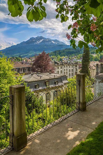 Overlooking southern Lucerne and Surroundings van Melanie Viola