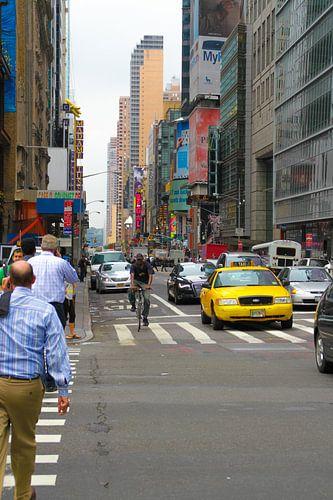 Street scene Manhatten van