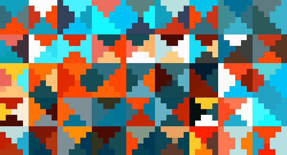 Behang Met Patroon : Patroon kleurrijk van marion tenbergen op canvas behang en meer