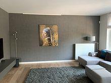 Photo de nos clients: La fille a la perle - Johannes Vermeer sur Lia Morcus, sur aluminium