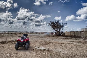 Quad op Lampedusa van Elianne van Turennout