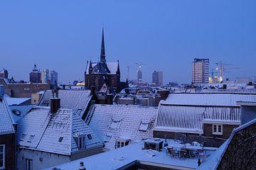 Centrum van Utrecht met de Sint-Willibrordkerk van Donker Utrecht