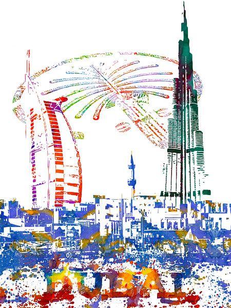 Dubai van Printed Artings