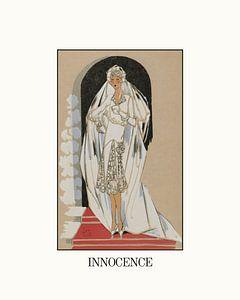 Innocence | Historische Art Deco Mode Advertentie | Vintage Fashion Design van NOONY