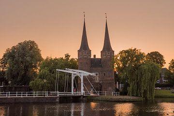 Delft Osttor(Oostpoort) Sonnenuntergang von Erik van 't Hof