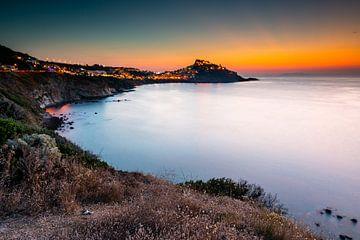 Zonsondergang bij Castelsardo op Sardinië sur Damien Franscoise