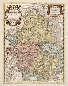 Kaart van Salland, Twente en Drente van