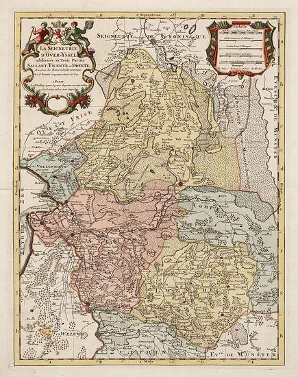 Kaart van Salland, Twente en Drente