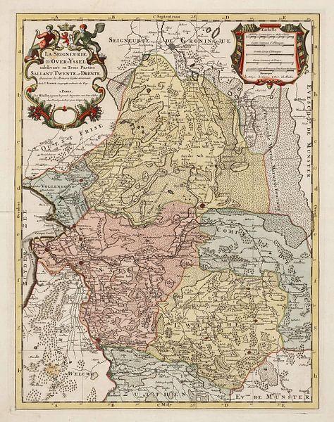 Kaart van Salland, Twente en Drente van Rebel Ontwerp