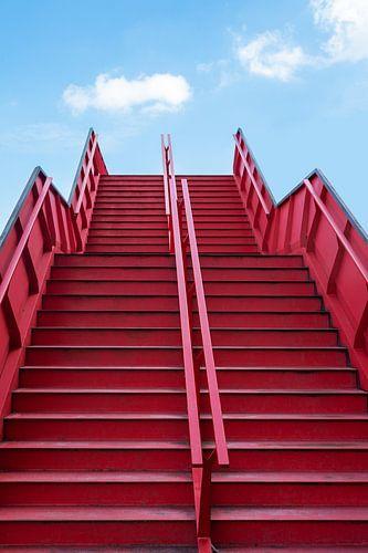 Stairway to heaven - rood, wit en blauw