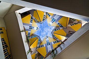 Cube Maisons Rotterdam vu de dessous sur