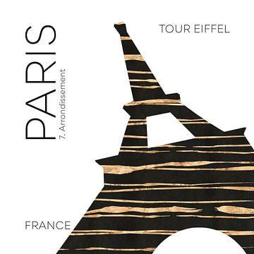 Urban Art PARIS Eiffelturm von Melanie Viola