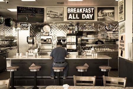 Amerikaans restaurant retro stijl van Inge van den Brande