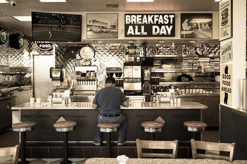 Retro- Art des amerikanischen Restaurants von Inge van den Brande