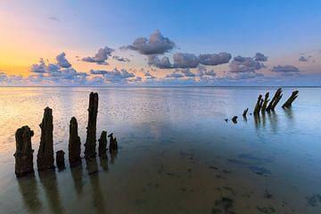 Sonnenuntergang über dem Wattenmeer von Bas Meelker
