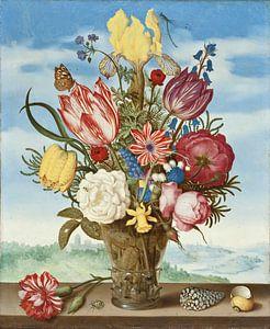Ambrosius Bosschaert. Bloemen in een vaas, 1623 van