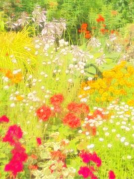 Englischer Garten in Blüte von Joost Hogervorst