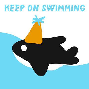 Schwimmen Sie weiter: Quarantäne Motivation von Jolijn Ceelen