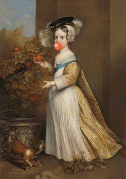 Portret van Prins van Oranje, als kind van Rudy & Gisela Schlechter