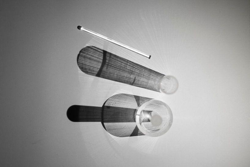 abstracte zwart/wit fotokunst van Anneloes van Dijk