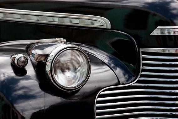 Detail zwarte Cubaanse Oldtimer - Chevrolet