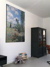 Klantfoto: Weergave van Vétheuil, Claude Monet van Meesterlijcke Meesters, op print op doek