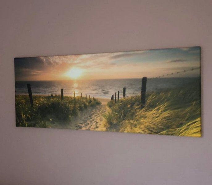 Photo de nos clients: Entrée de la plage sur Nico Zwanenburg, sur toile