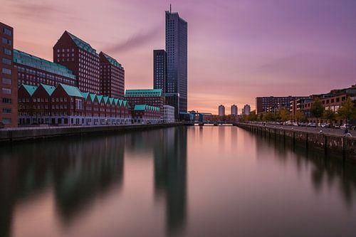 Zonsondergang Spoorweghaven Rotterdam