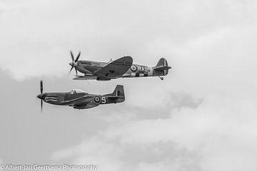 Spitfire & Mustang von Albertjan Geertsema