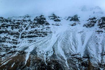 Berg met sneeuw IJsland von Jo Pixel