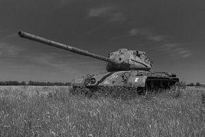 M47 Patton leger tank zwart wit 3