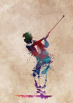 Golfspieler 1 Sport #Golf #Sport von JBJart Justyna Jaszke