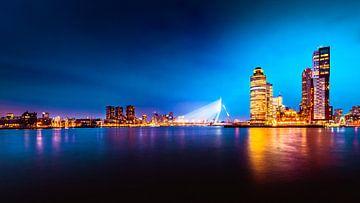 Rotterdam Skyline Erasmusbrug van Lesley Gudders