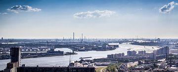 De Haven van Rotterdam (Panorama) van Aiji Kley