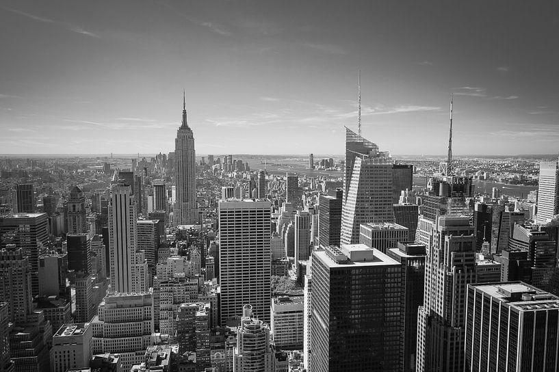 Wolkenkrabbers in New York van Sander van Leeuwen