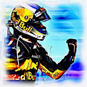 Daniel Ricciardo - anno 2018 van Jean-Louis Glineur alias DeVerviers