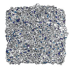 Vreemde kostgangers v1 in blauw