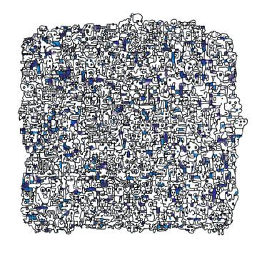 Vreemde kostgangers v1 in blauw van Henk van Os